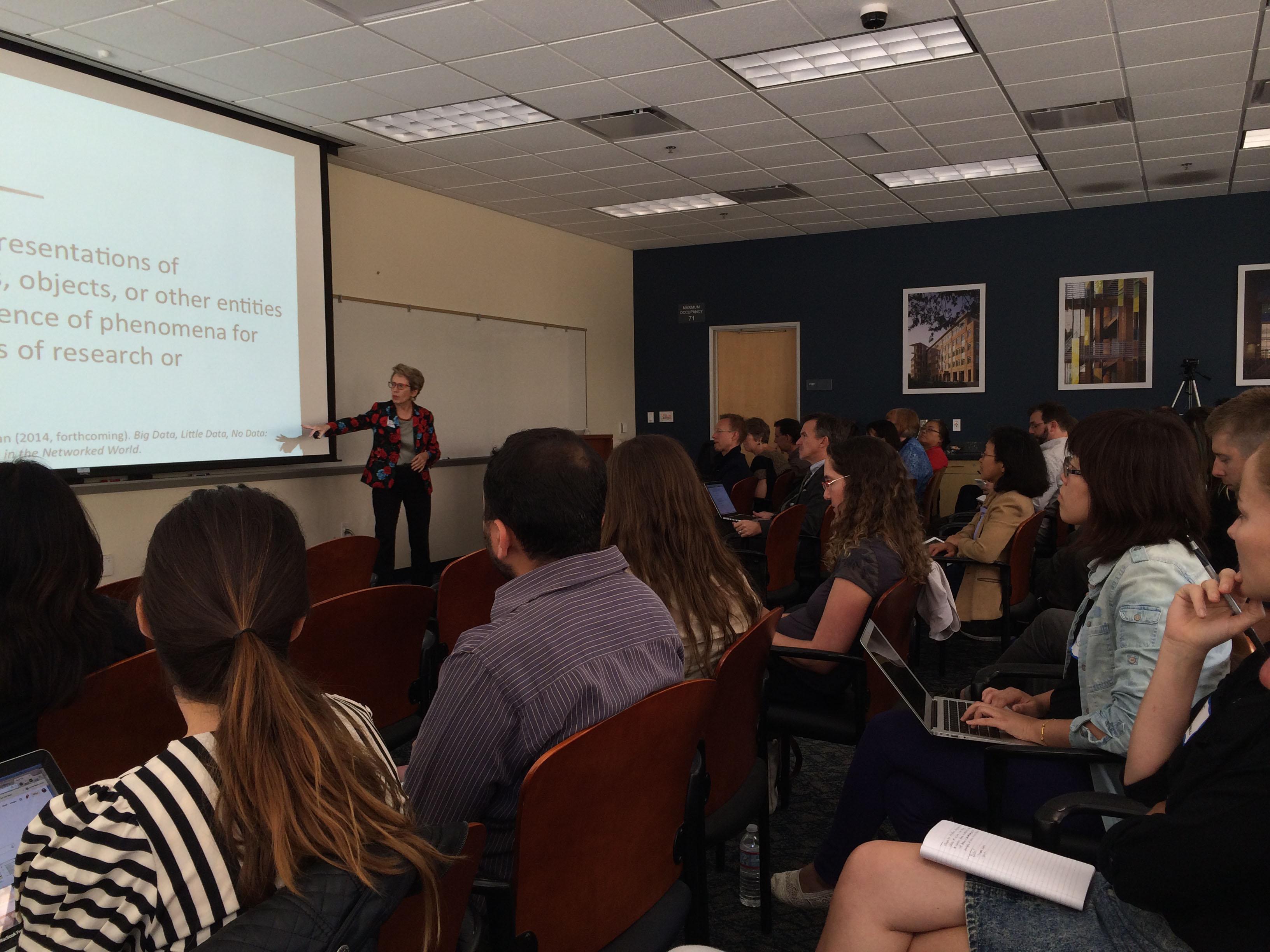 Borgman presents on the Data Dance in Irvine, April 2014.