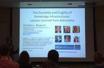 Dr. Borgman presents at the UCLA Astrophysics Journal Club