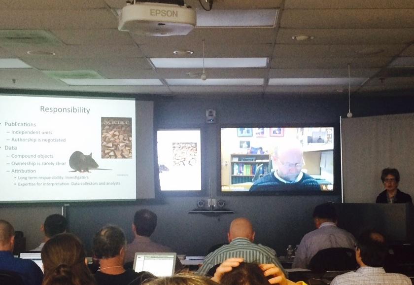Professor Borgman presents at 2015 FaceBase Annual Meeting