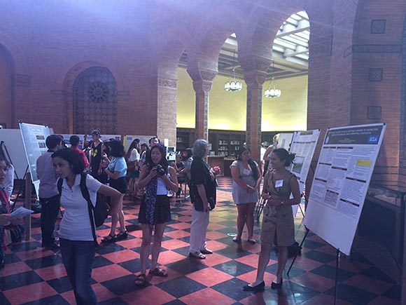Jaklyn Nunga's presents her research at UCLA Powell Library on May 13, 2014.