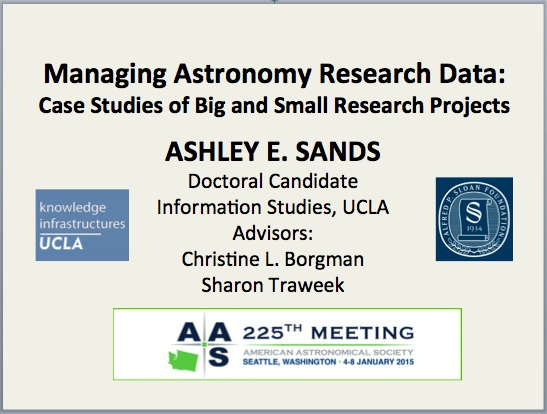 Ashley Sands presents at the 225th AAS Meeting in Seattle, WA