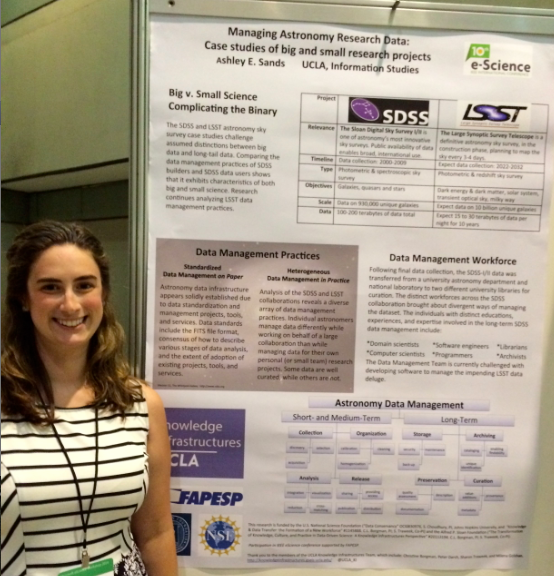 Sands presents poster at the IEEE e-Science conference in Brazil