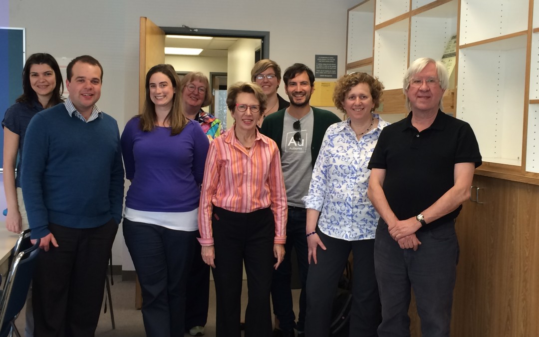 From Left: Milena Golshan, Peter Darch, Ashley Sands, Sharon Traweek, Christine L. Borgman, Jillian Wallis, Alberto Pepe, Alyssa Goodman, and Alex Szalay [not pictured: George Djorgovski, Elaine Levia, Jaklyn Nunga].